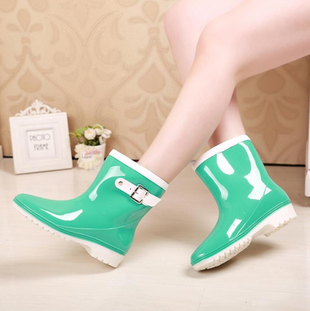 Frau Schlauch Gelee Regen Stiefel   tragen wasserdichte Regen Stiefel   Überschuhe Schuhe B07B9PWTRS Sport- & Outdoorschuhe Eleganter Stil