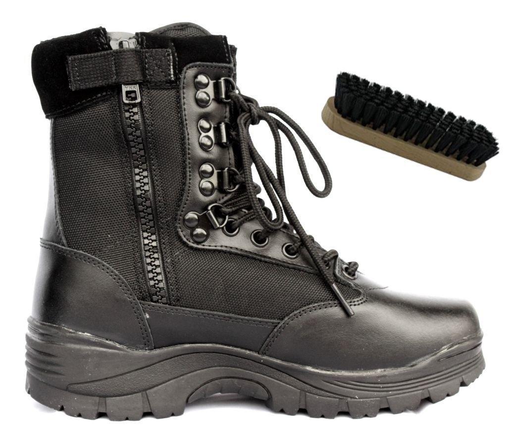 Security Einsatzstiefel Swat Boots /42 + Aos-Outdoor Pflegebürste PpoxSw2K