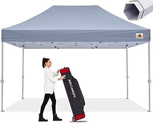 ABCCANOPY Commercial Ez Pop Up Canopy Tent 10x15 Premium-Series, Green