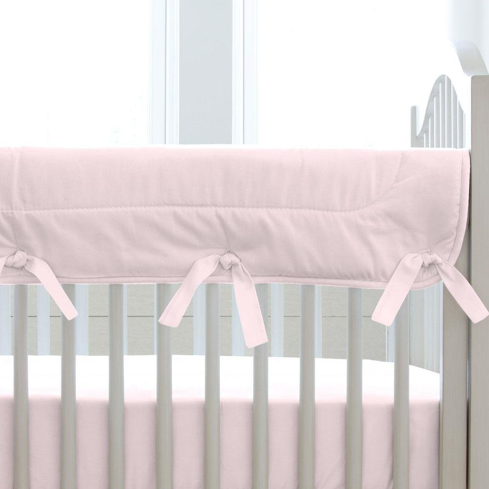 Carousel Designs Solid Pink Crib Rail Cover