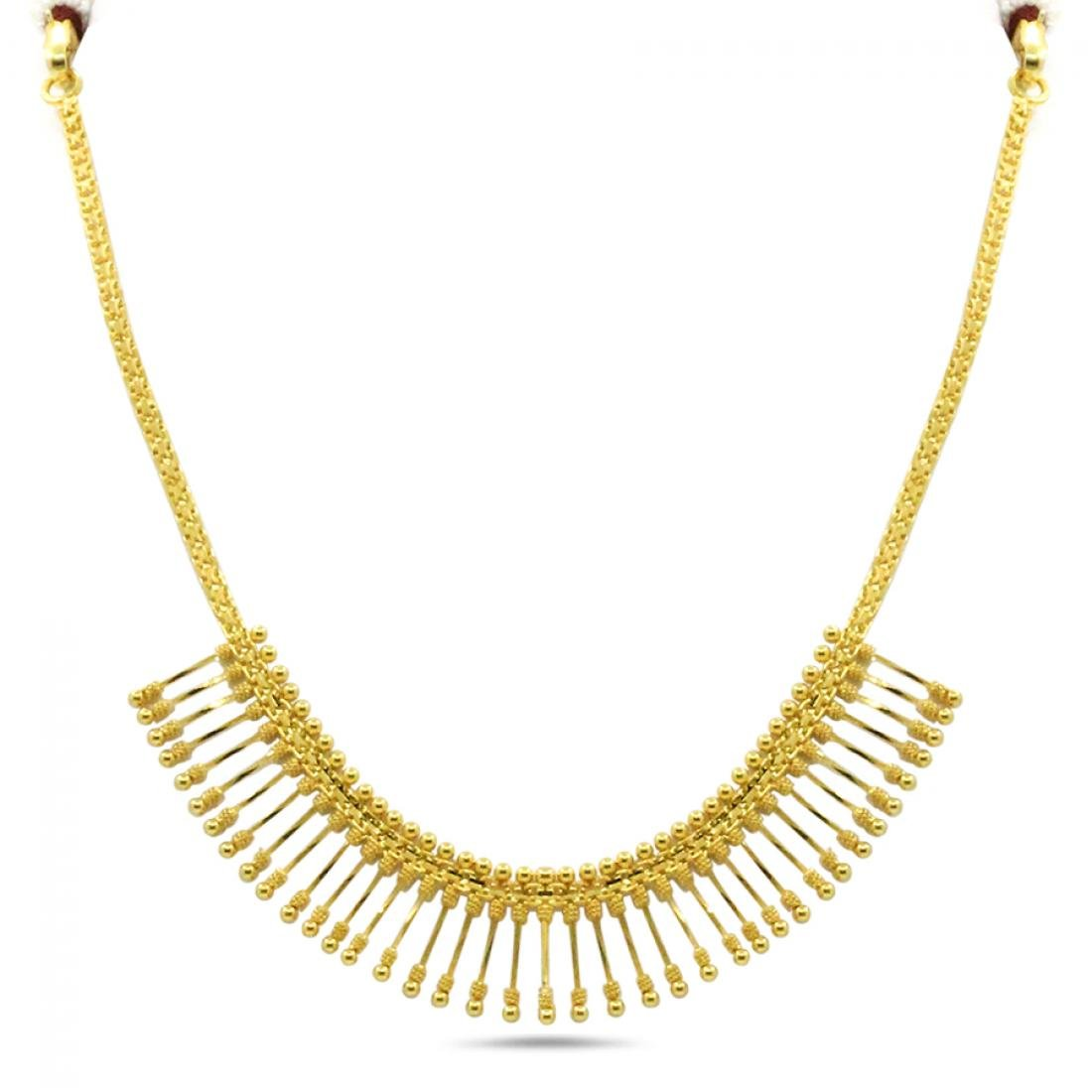 Buy Candere By Kalyan Jewellers 22kt Yellow Gold Necklace For Women At Amazon In