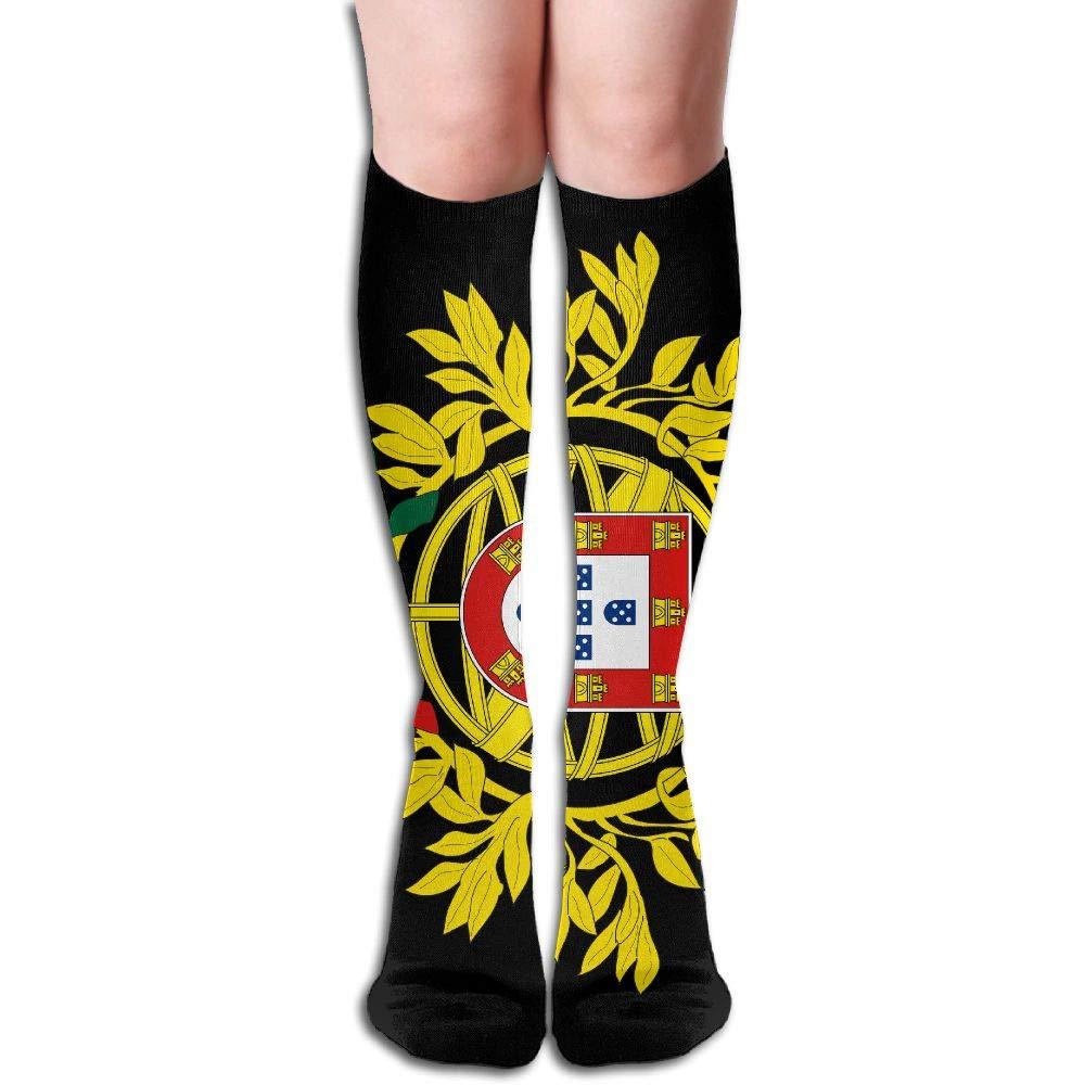 Coat Of Arms Of Portugal Women's Fashion Knee High Socks Casual Socks