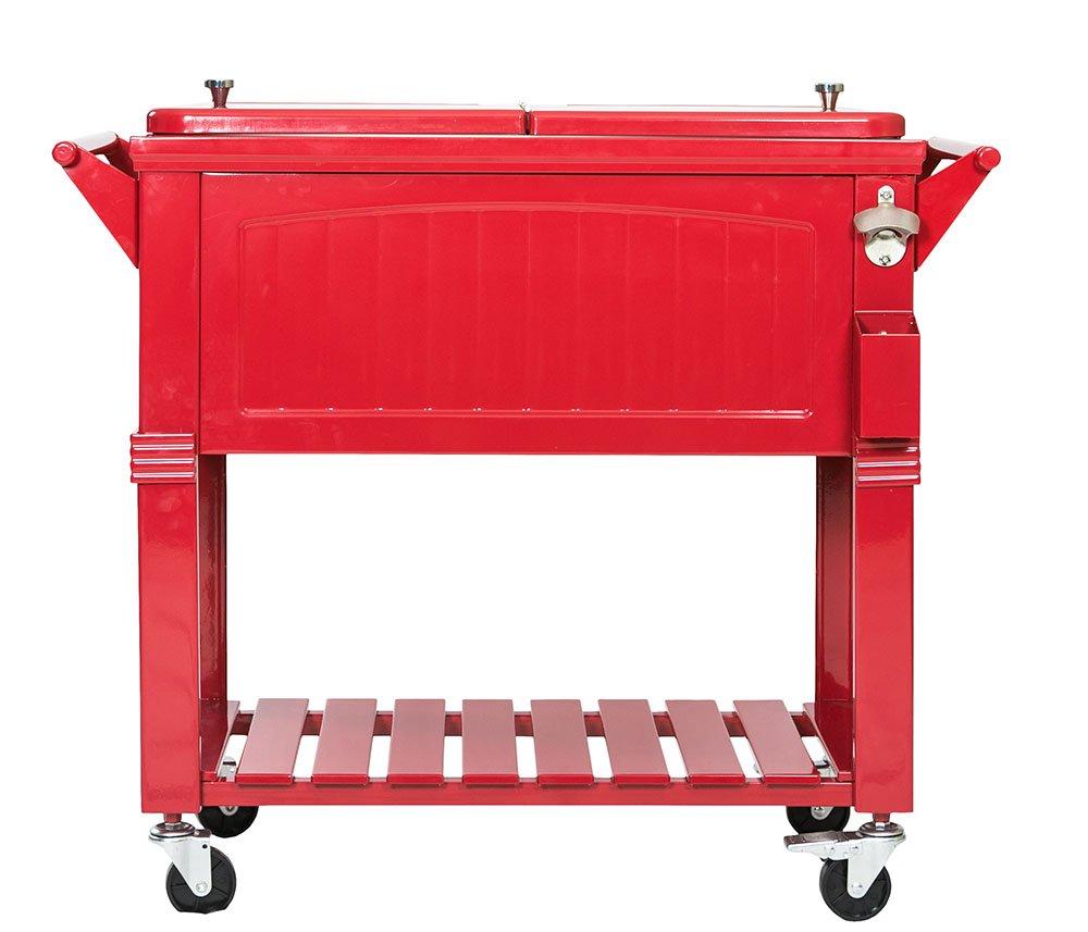 Permasteel PS-203F1-RED Furniture Cooler, Red by Permasteel