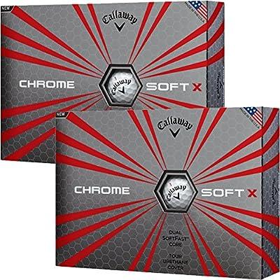 Callaway 2017 Chrome Sofe X Golf Ball, 4 Colors (Silver Pack), 2/3 Dozen