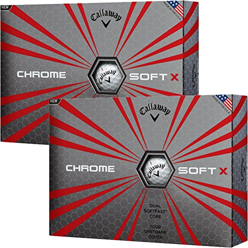 Callaway 2017 Chrome Sofe X Golf Ball, Silver Pack, 2 or 3 Dozen