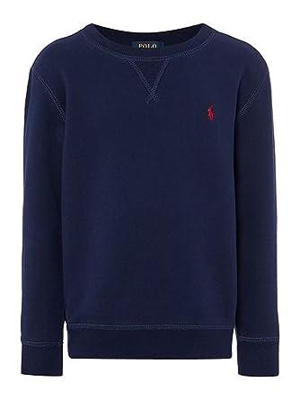 9cd69ed0908d Polo Ralph Lauren Children s Boys Crew Neck Cotton-Fleece Sweatshirt - Navy  Top Jumper Sweater