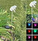 Solar Powered Frog Garden/yard Decor Stake Color Changing LED Light