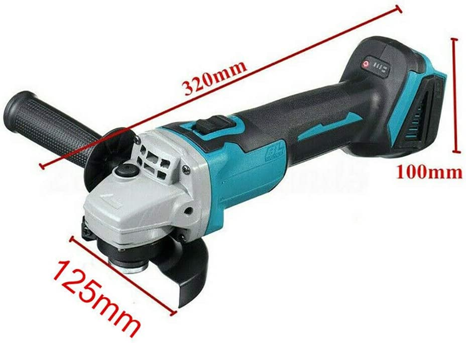 Batterie non Incluse Elikliv Meuleuses dAngle sans Balais sans Fil 18V Li-ion 125mm Compatible avec Makita