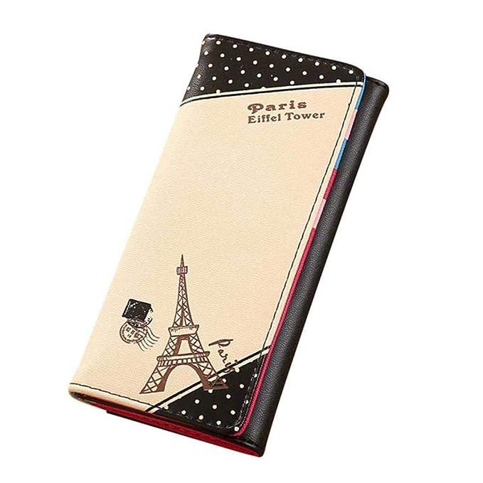 6ad246953566 Amazon.com: WeoHau Fashion Ladies Paris Eiffel Tower Buckle Wallet ...