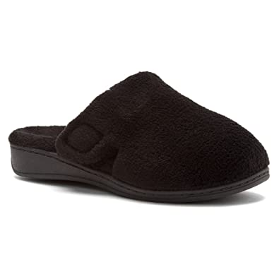 Orthaheel Gemma Slipper Womens Size 5 Black Textile Scuffs Shoes
