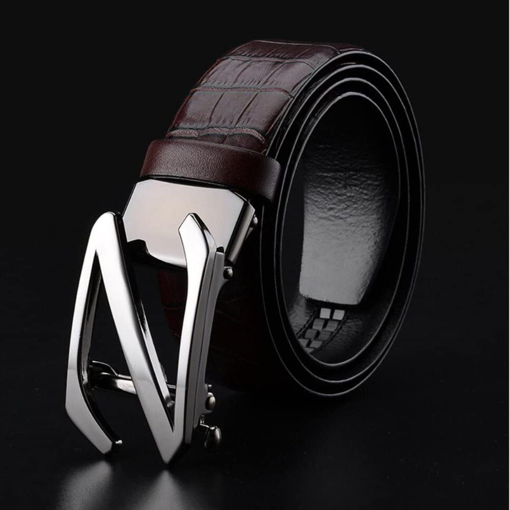 Color : A, Size : 1250 XUEXUE Mens Belt,Business Pin Buckle,Work Basic Leather,Casual Formal Belts, Adjustable,Great for Jeans /& Work Clothes Uniforms