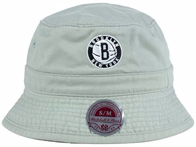 Mitchell and Ness NBA Brooklyn Nets Team Court Logo Bucket Hat at ... 89af2b60f2c