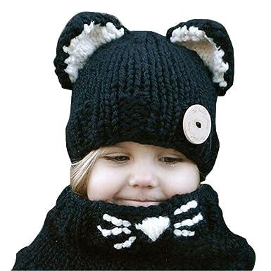 Lovely Winter Baby Kids Girls Boys Warm Woolen Coif Hood Scarf Caps Hats Kfnire Baby Hats
