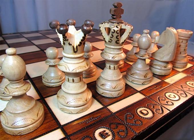 Chessebook Juego de ajedrez de Madera 52 x 52 cm: Amazon.es ...