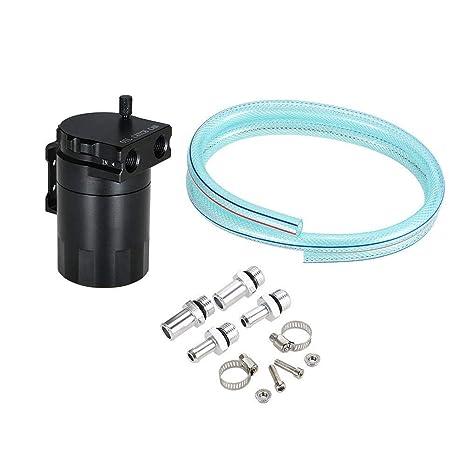 Cilindro Aleación De Aluminio Motor Aceite Receptor Tanque De Aceite Transpirable Depósito De Combustible Auxiliar 300ML