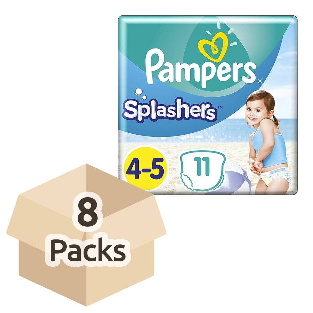 Pampers Splashers Disposable Swim Pants - Size 4/5 (9-15kg) - Case of 8 Packs of 11 Procter & Gamble 8001090698377