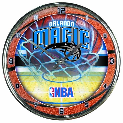 NBA Orlando Magic Chrome Clock (Orlando Magic Round Wall Clock)