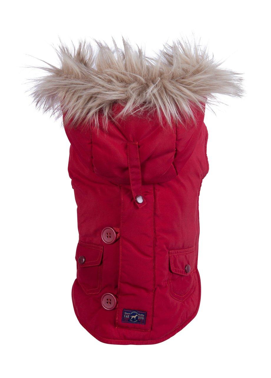 fabdog Snorkel Dog Jacket Red (18'') by fabdog