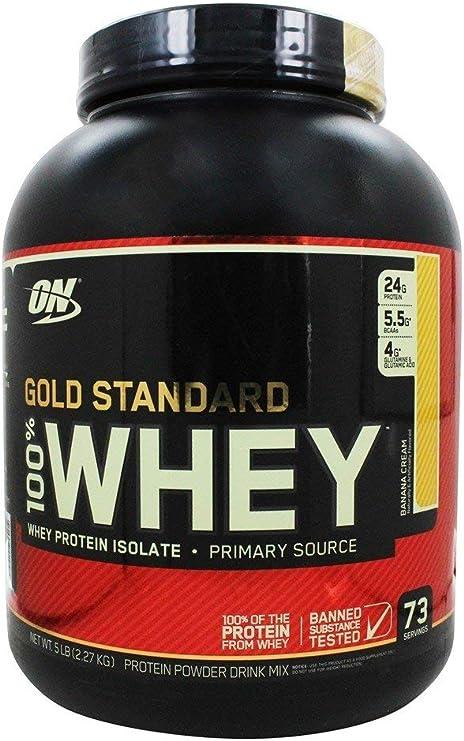 OPTIMUN NUTRITION 100% WHEY Gold Standard - 2,27 KG - Sabor - Banana & Cream