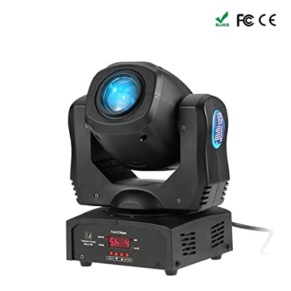 Tomshine 80W Disco Light DMX512 Sound Control Auto Rotating 9/11 Channels  Rainbow 8 Colors Changing Head Moving Light LED Stage Gobo Pattern Lamp for