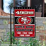 San Francisco 49ers 5 Time Super Bowl Champions Double Sided Garden Flag