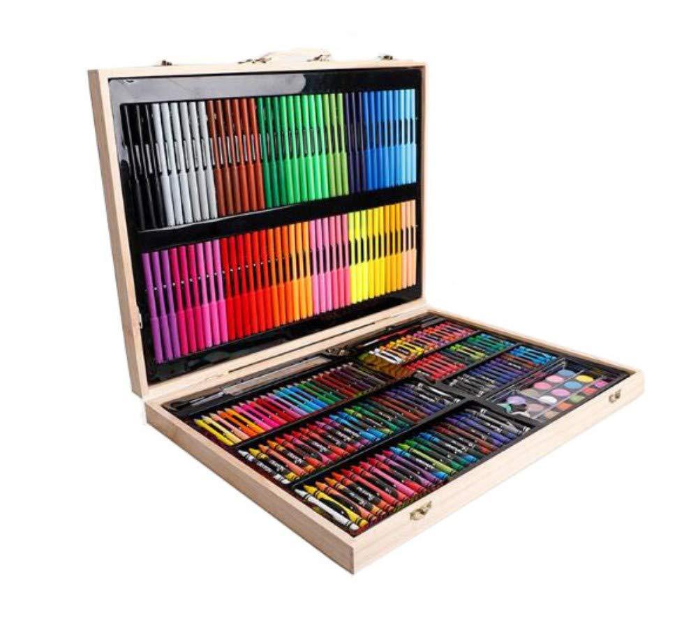 HQYDBB Kids Premium Art Set, Combinazione di cancelleria per Bambini con Pennello per Bambini 251, Penna Acquerello per Pittura primaria, Set di matite Coloreate
