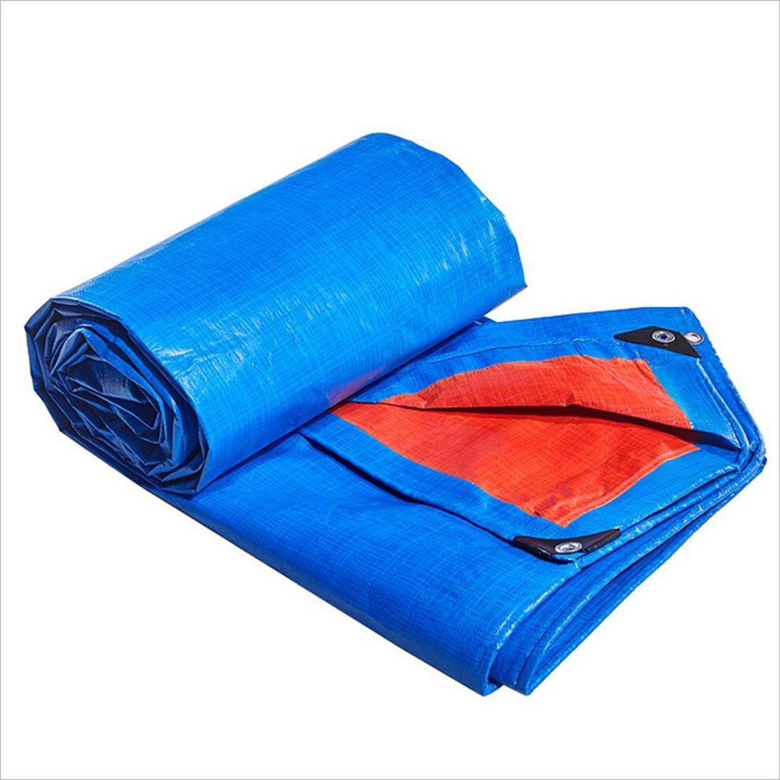 Z-Peng Bu ターポリン防水日焼け止めテントブルーレッドビニル厚いプラスチックポンチョの防水カーレインカバーサイズの様々 ++ (サイズ さいず : 5mx7m) 5mx7m  B07JMP6CD3