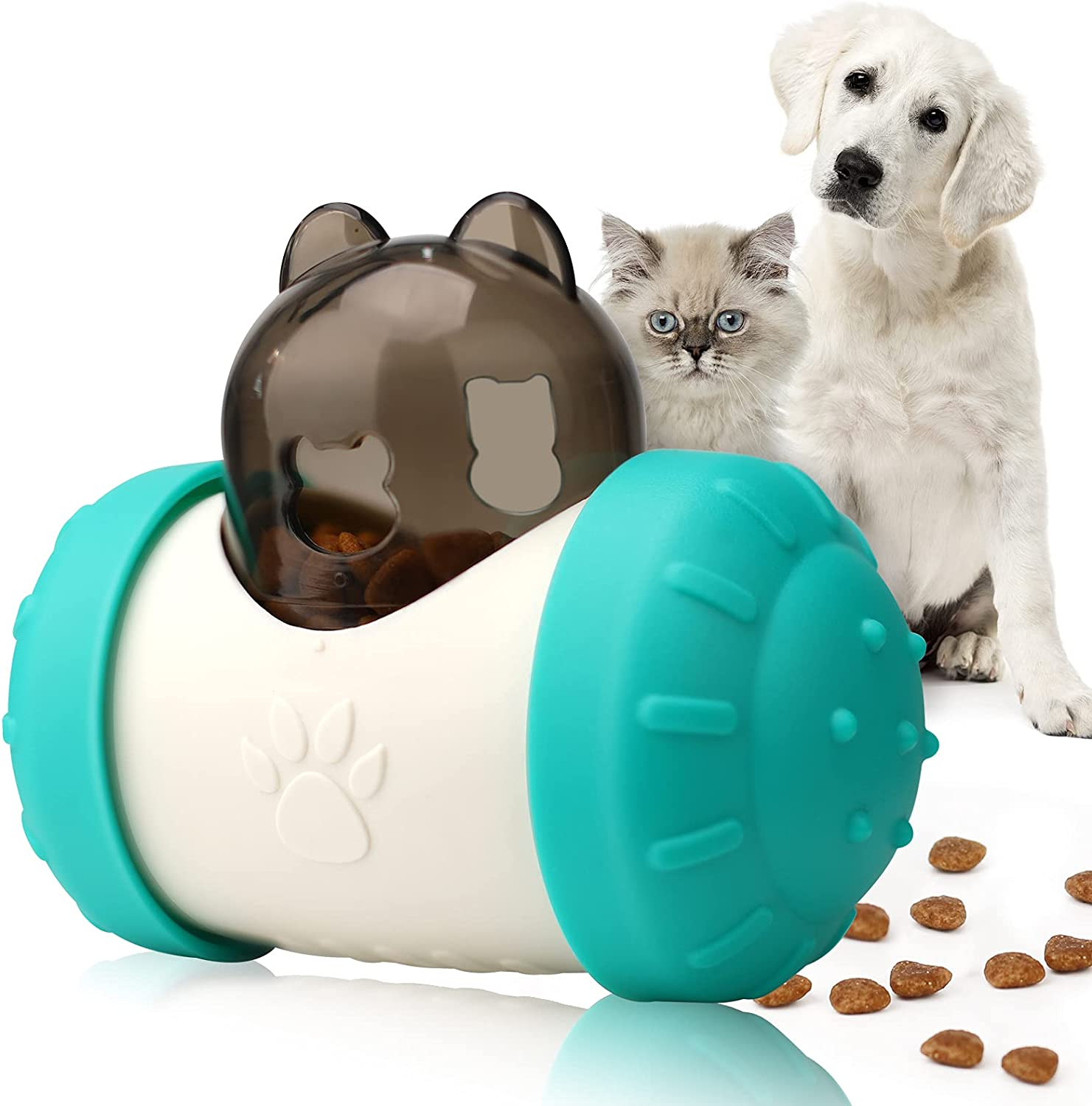 Kakeedoo Cat Dog Food Dispensing Toy, Interactive Treat Dispensing Dog Toys Pet Slow Feeder Puzzle Toys for Relieving Anxiety & IQ improving
