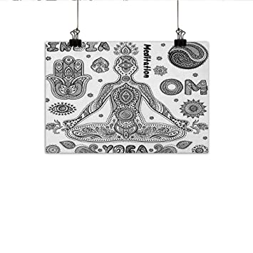 Amazon.com: Póster de yoga para decoración de pared, diseño ...
