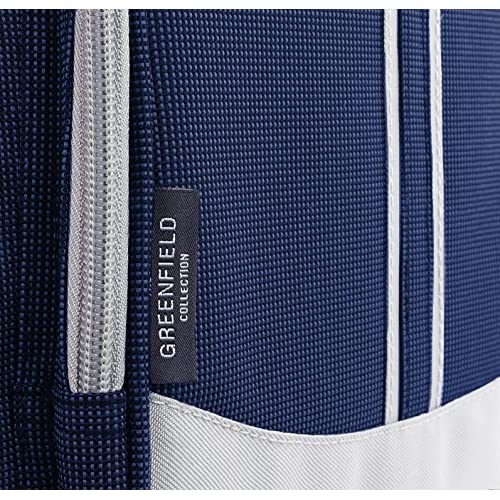 Greenfield Collection Sac à dos de pique-nique Pour 4 personnes avec couverture assortie 25x32x42 cm bleu marine