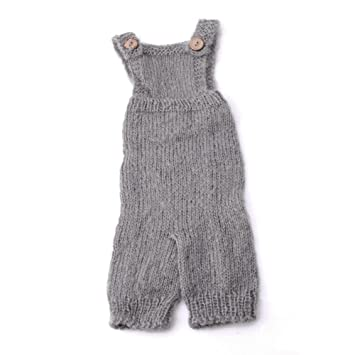 38e797006 Amazon.com   Tangc Newborn Baby Infant Knitted Mohair Rompers ...