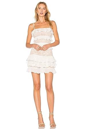 Dior Bella Logan White Ruffle Lace Mini Dress At Amazon