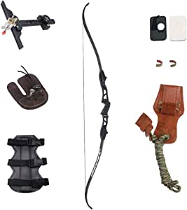 """SinoArt 66"""" Metal Riser Takedown Recurve Bow Adult Archery Competition Athletic Bow Weights 20 22 24 26 28 30 32 34 36 LB Right Handed Archery Kit"""