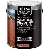 BEHR 1 Gal. Redwood Premium Transparent Deck, Fence & Siding Weatherproofing Wood Finish