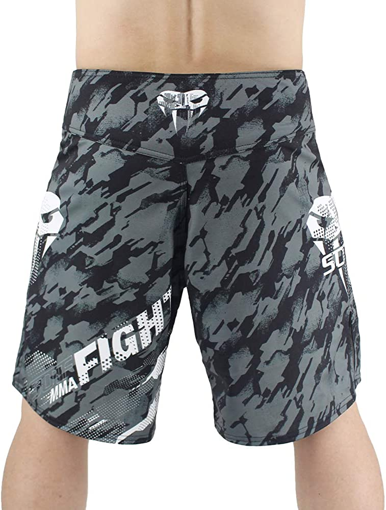 SOTF MMA Boxing Fight Shorts Mens Stretch Sports Training Shorts