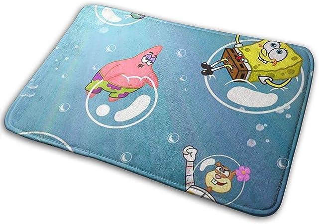 Imagen deBLSYP Felpudo Indoor Doormat Happy Spongebob Squarepants Stylish Welcome Doormat Entrance Non Slip Backing Doormats