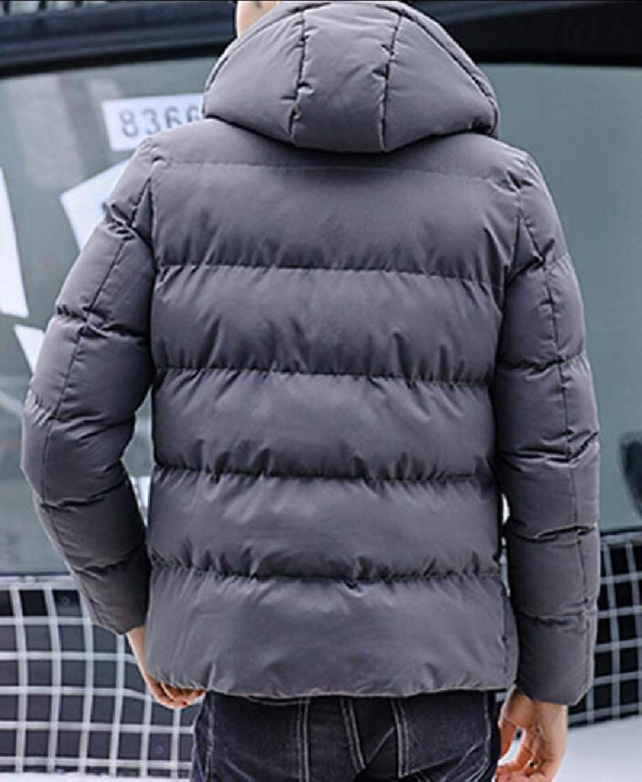 Generic Mens Packable Puffer Lightweight Insulated Down Jacket Winter Coat with Hood