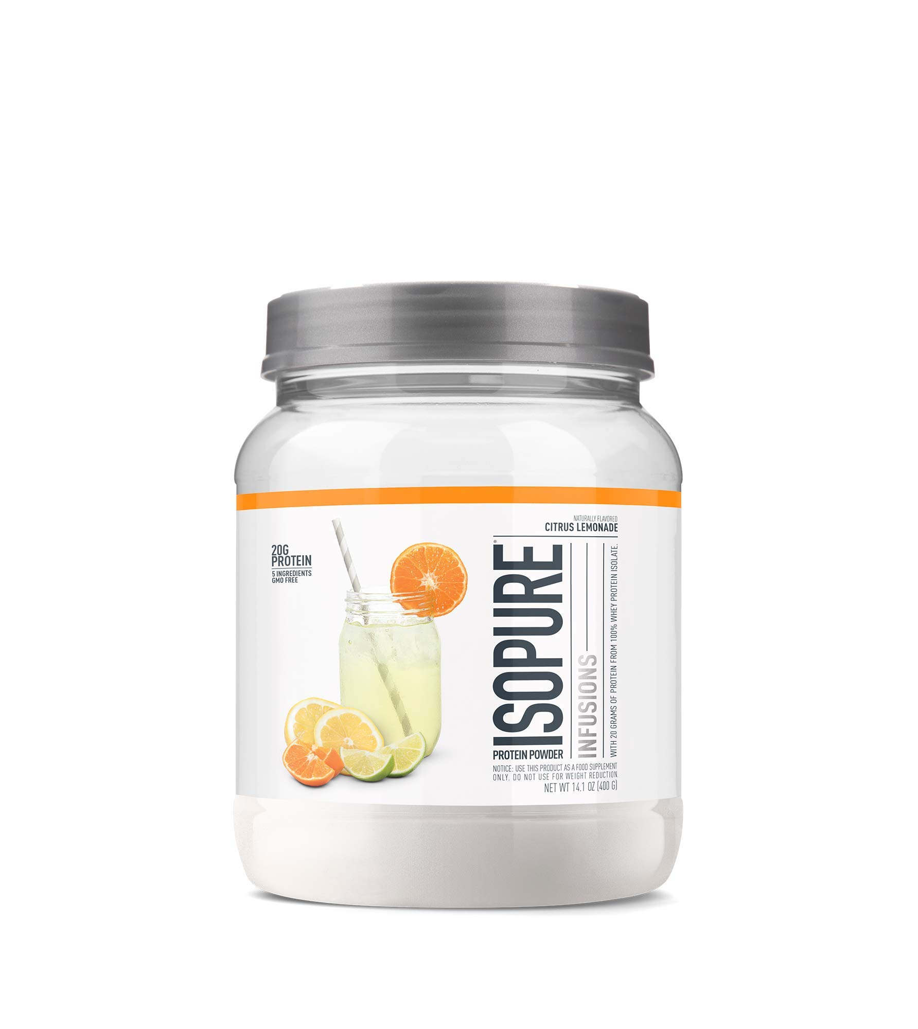 ISOPURE INFUSIONS, Refreshingly Light Fruit Flavored Whey Protein Isolate Powder, ''Shake Vigorously & Infuses in a Minute'', Citrus Lemonade, 16 Servings by Isopure (Image #1)
