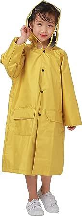 Freesmily Kids Raincoat Waterproof Rain Poncho Jacket Coat for Girls Boys
