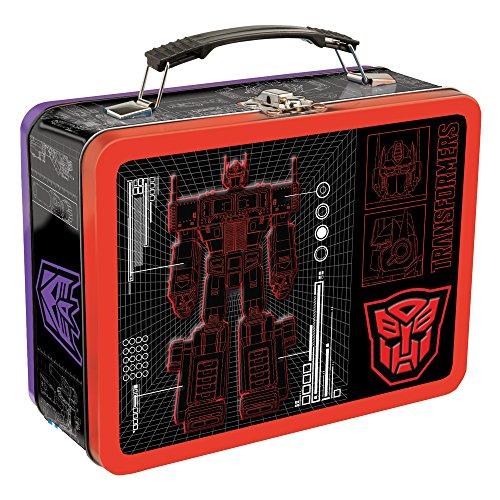 Vandor Transformers Large Tin Tote, 3.5 x 7.5 x 9 Inches - Lunch Transformer Metal Box