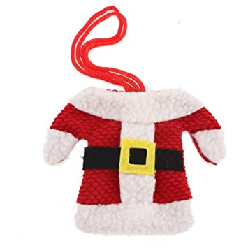 YARUIE 1 Set Funda Cubierta De Cuberterias Vajillas Patron De Camisa y Pantalones Decoracion Navidad: Amazon.es: Juguetes y juegos