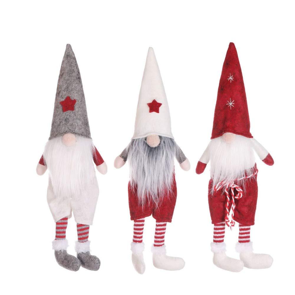 WAINEO Sueco Navidad Santa Gnomo Figurita de peluche Elfo n/órdico Mu/ñeca Inicio Decoraci/ón navide/ña Adornos Regalos navide/ños