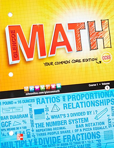 Glencoe Math, Course 1, Student Edition, Volume 1 (MATH APPLIC & CONN CRSE)