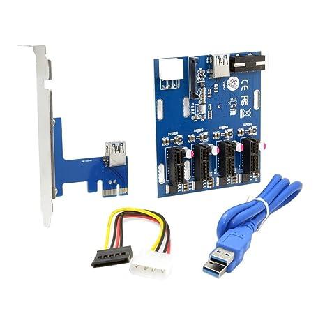 Exterior & Interior 1 A 3 PCI Express 1 X ranura tarjeta elevadora ...