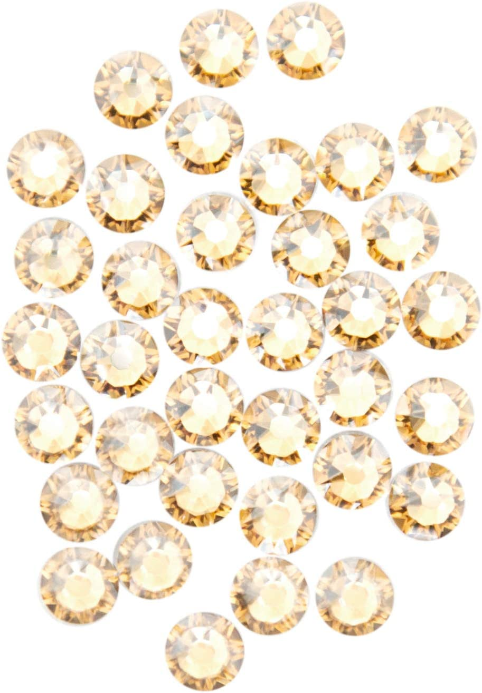 Swarovski – Create Your Style Swarovski 36Pc 12SS Golden Shadow Flatback Crystals, Gold