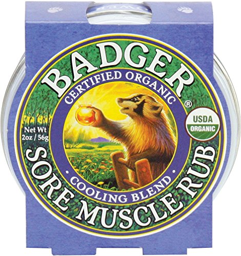 Organic Sore Muscle Rub - Badger Sore Muscle Rub Cooling Blend - 2 oz Tin