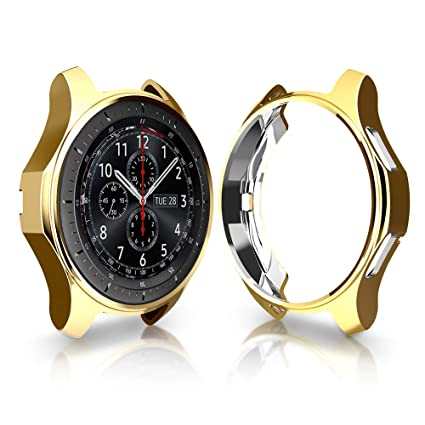 Case for Samsung Gear S3 Frontier SM-R760, Haojavo Soft TPU Plated Protective Bumper Shell Protector for Samsung Gear S3 Frontier/Classical & Galaxy ...