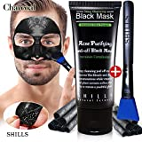 SHILLS Blackhead Remover,Pore Control, Skin Cleansing, Purifying Bamboo Charcoal, Peel Off Facial Black Mask,
