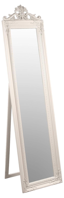 Febland FM641C Elizabeth Standspiegel, Glas, Weiß, 180 x 45 x 45 cm ...