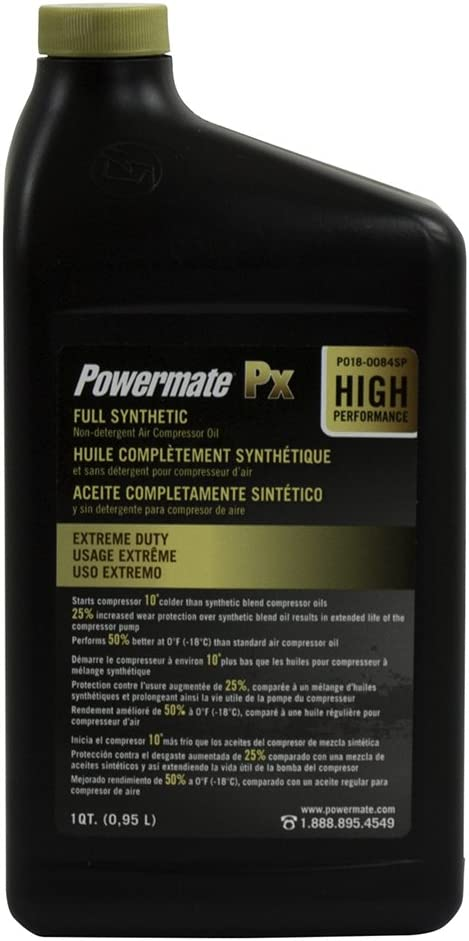 Powermate Px P018-0084SP 100% Full Synthetic Air Compressor Oil
